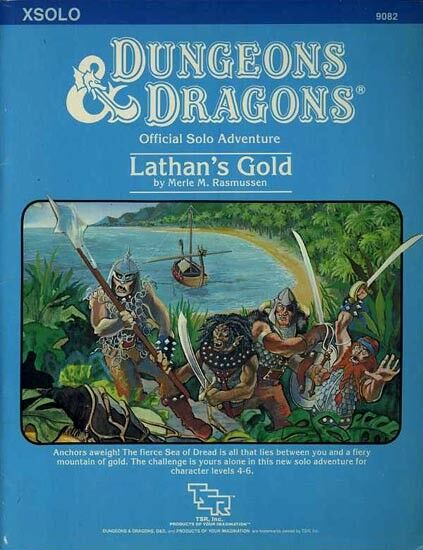XSOLO LATHAN'S gold EXC+  AD&D D&D TSR Module Dungeons Dragons Adventure Game