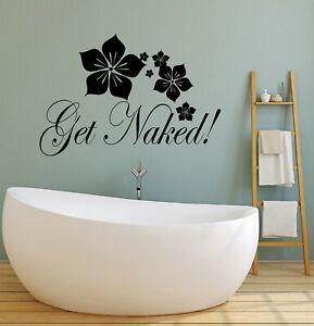 ig4637 Vinyl Wall Decal Get Naked Woman Bathroom Bedroom Decor Stickers