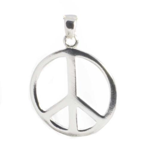 Peace Zeichen Anhänger  925 Sterling Silber 2,1 cm Bella Carina