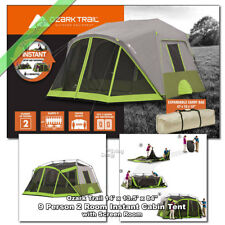 Ozark Trail 14u0027 x 13u0027 Instant Cabin Tent 9 Person 2 Room Outdoor Family  sc 1 st  eBay & Ozark Trail Instant Tent 6 Person 10x9u0027 Outdoor Camping Family ...