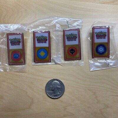 LOT Pokemon Pins TCG Trading Card Game Johto League Badge Pokémon Collector 4