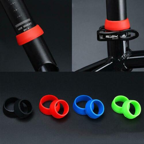 Silicone Rubber Ring Waterproof Dust Cover Grip Bicycle Seatpost Ring Sports