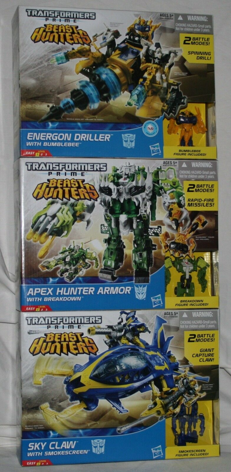 Transformers Prime Beast Hunters Cyberverse Vehicle Lot DGSIM