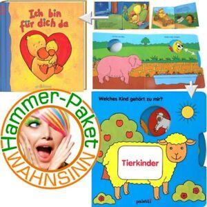 Mini-Hammerpaket-fuer-Kleinkinder-2-suesse-Bilderbuecher-Pappbuecher-Tierkinder