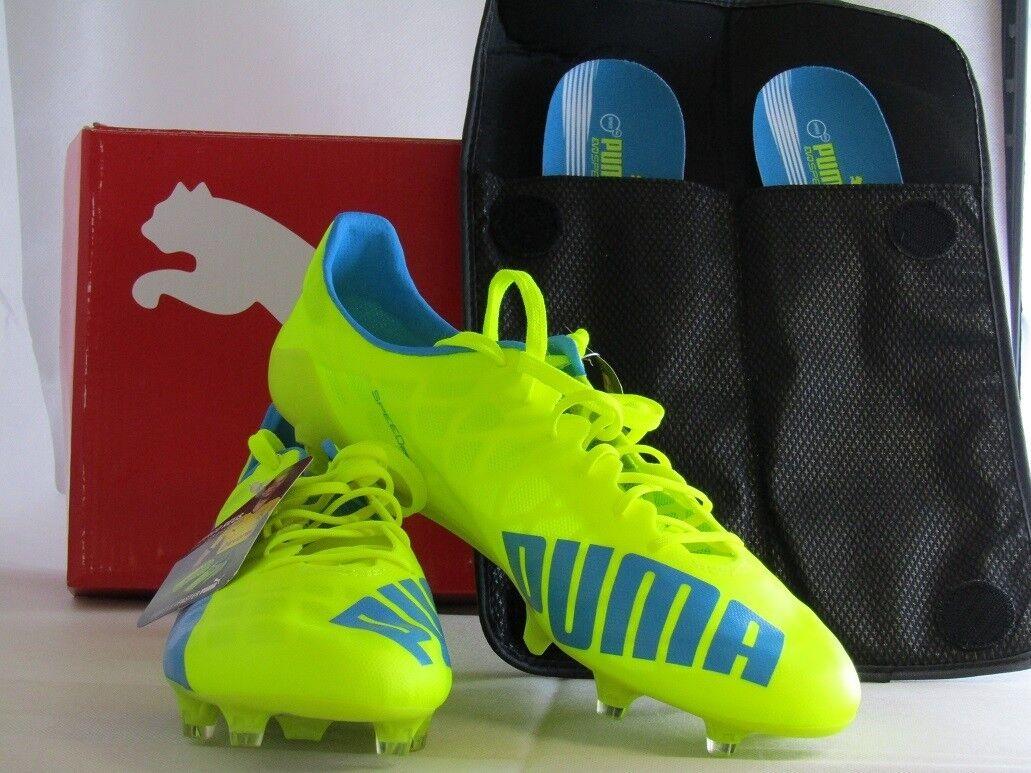 Puma evoSPEED SL FG - Gelb - Blau - Weiß - Fussballschuhe - Neu  | Kunde zuerst