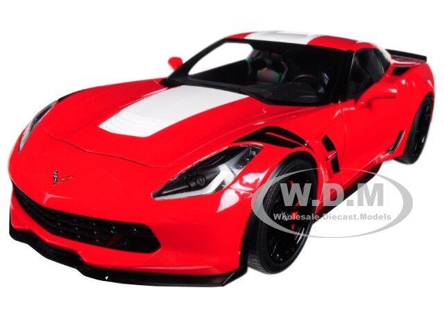 2018 Chevrolet Corvette C7 Grand Sport Rojo Coche Modelo 1/18 de Autoart 71274