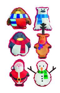 NEW-6-PACK-DOG-LIFE-SCREEN-PRINT-CHRISTMAS-FUN-MIX-DOG-PUPPY-SOFT-PLUSH-TOY