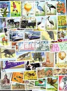 CONGO FRANCAIS collections de 50 à 500 timbres différents
