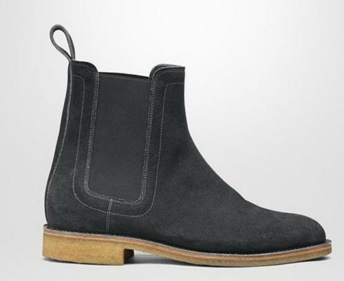 Mens retro Real Suede High Top Pointy Toe Ankle Chelsea Boots Shoes Chukka Boots