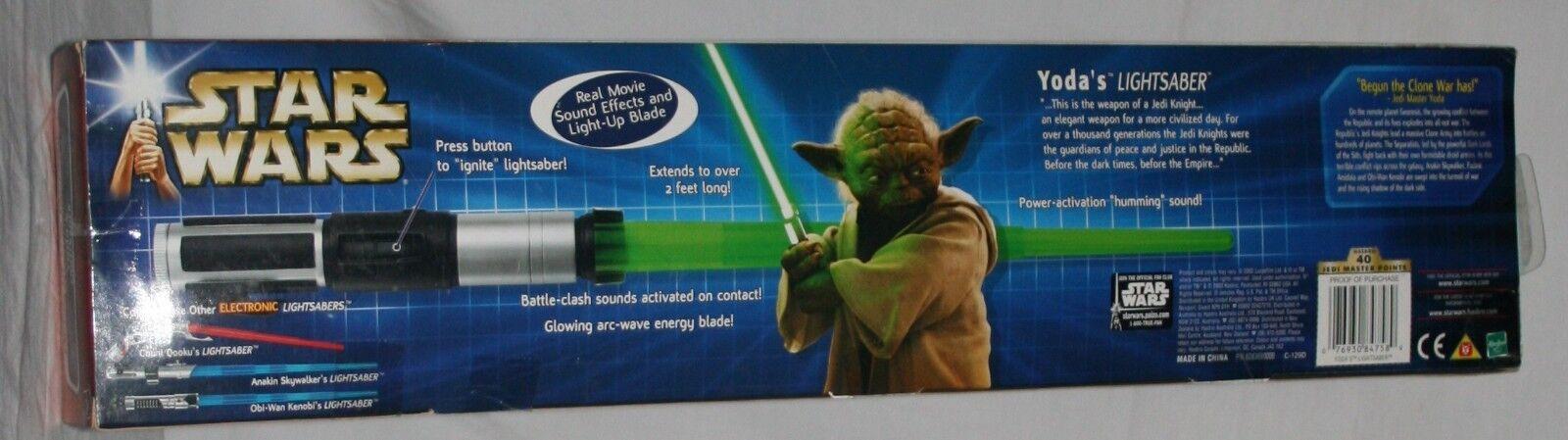 Star Wars electronic electronic electronic lightsaber yoda army of the republic MISB aa3bdb