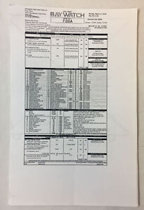 2016 BAYWATCH set used movie CALL SHEET + four pages of sides