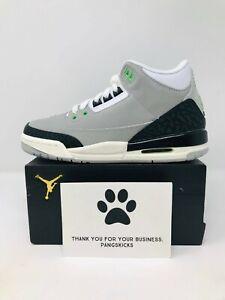 """Grade School Youth Size Nike Air Jordan Retro 3 /""""Chlorophyll Athletic 398614 006"""