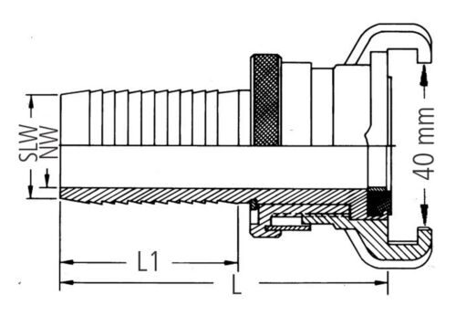 "Geka by Karasto Plus-Schlauchstück SH-K Messing 3//4/"" 19mm 02.4103.9"