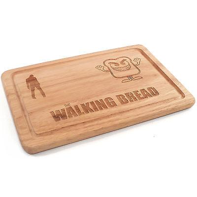The Walking Dead The Walking Bread Wooden Chopping Board, Engraved Gift