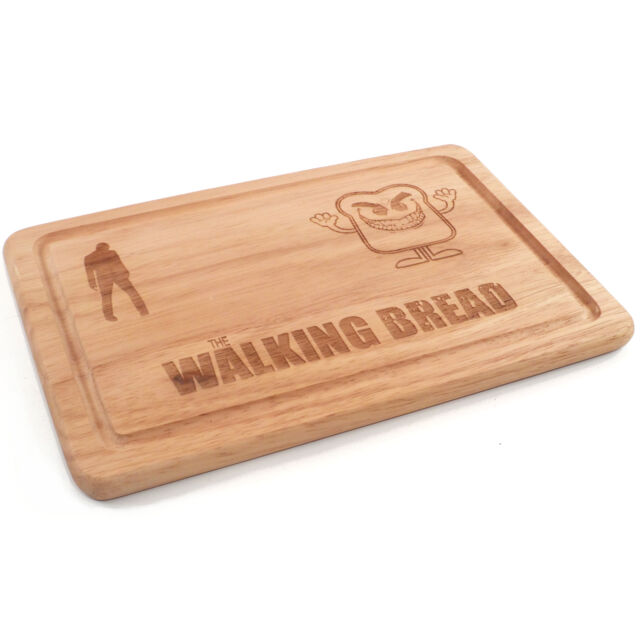 The Walking Dead The Walking Bread Wooden Chopping Board, Engraved Gift