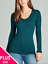 Women-PLUS-Long-Sleeve-V-NECK-T-Shirt-Active-Basic-Cotton-Layering-1XL-2XL-3XL thumbnail 13