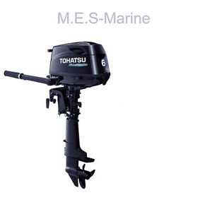 New Tohatsu 6hp 4stroke Outboard Engine Long Shaft Mercury