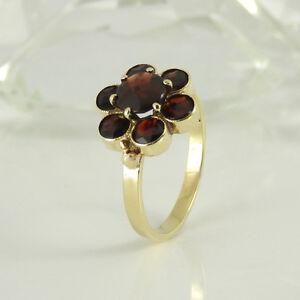 Ring-in-333-Gelbgold-7-Granat-Edelsteine-Gr-55