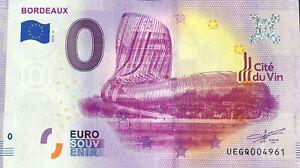 BILLET-0-EURO-BORDEAUX-CITE-DU-VIN-FRANCE-2019-3-NUMERO-DIVERS