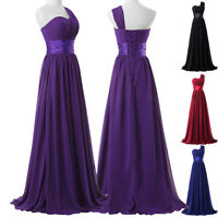 2017 Chiffon Bridesmaid Wedding Long Cocktail Evening Party Prom Maxi Gown Dress