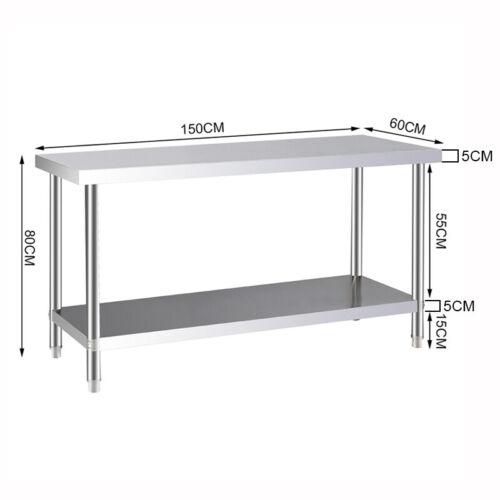 Stainless Steel Work Bench Workshop Kitchen Worktop Work Table //Ledge