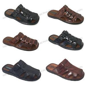 Brand-New-VEEKO-Mens-Slides-Sandals-Closed-Toe-Hook-and-Loop-Fisherman-Slipper