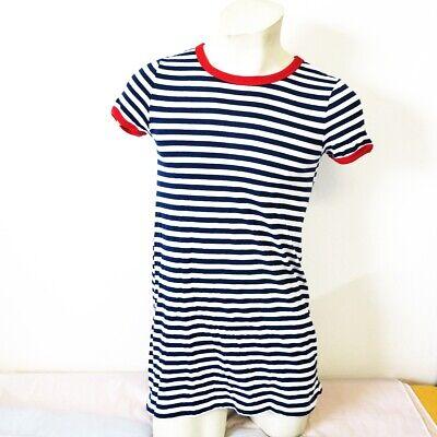 h&m kleid sommerkleid mädchen gr (s)164 blau/weiß
