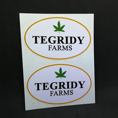 South Park 3.5 Inch Vinyl STICKERs Pair of TEGRIDY FARMS DECALS