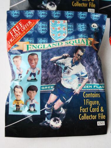 2X RARE VINTAGE 1995 ENGLAND SQUAD GREEN FLAG CORINTHIAN FIGURE BAGS NEW SEALED!