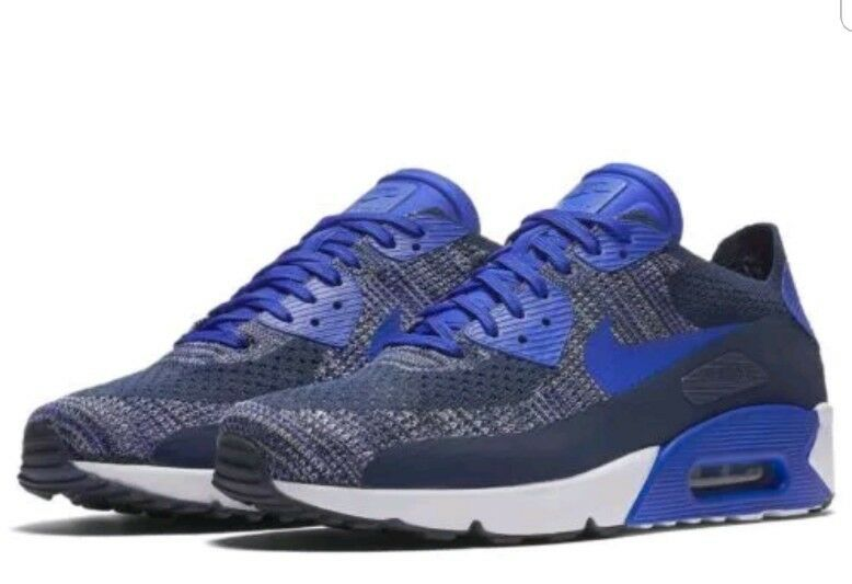 NEW NIKE AIR MAX 90 Ultra 2.0 Flyknit Men's College Navy Blue 875943-400 Price reduction The latest discount shoes for men and women