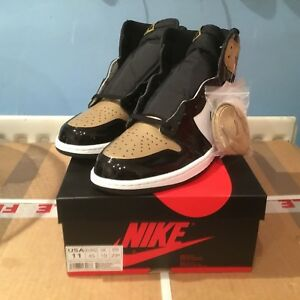 0e866b177043 NIKE AIR JORDAN 1 RETRO HIGH OG NRG GOLD TOE SIZE UK 10