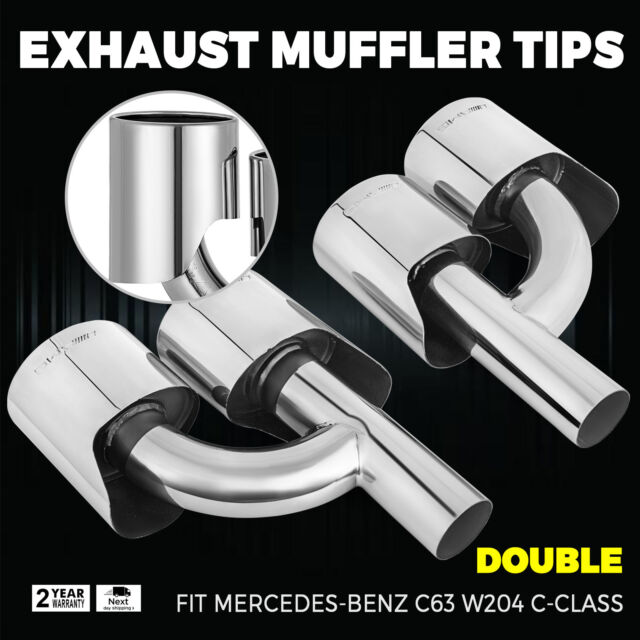 C300 Quad Oval Exhaust Pipe Tips Muffler For Mercedes Benz W204 C63 Amazing