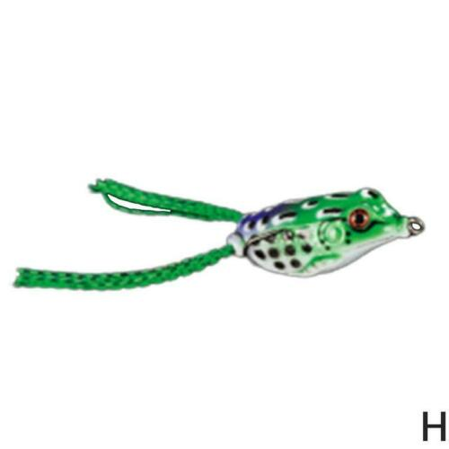 Frog  Floating Fishing Lures Rotating Tail Artificial False Fishing Bait Colored