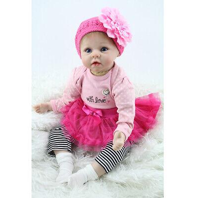 55cm Baby Reborn Dolls Vinyl Silicone Lifelike Toddler Girl Kids Newborn Gifts