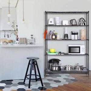 5Tier Heavy Duty Kitchen Shelf Shelving Unit Wire Storage Rack Shelves  Organizer