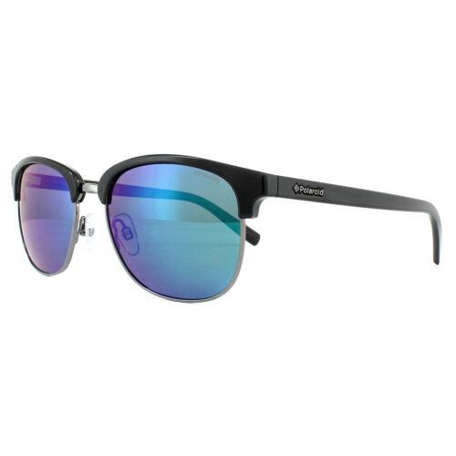 Polaroid Sunglasses 1012//S CVL K7 Dark Ruthenium Green Blue Mirror Polarized