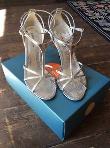 Sandals Shoes High 38 Size Millen Silver 5 Karen Heel fAw004