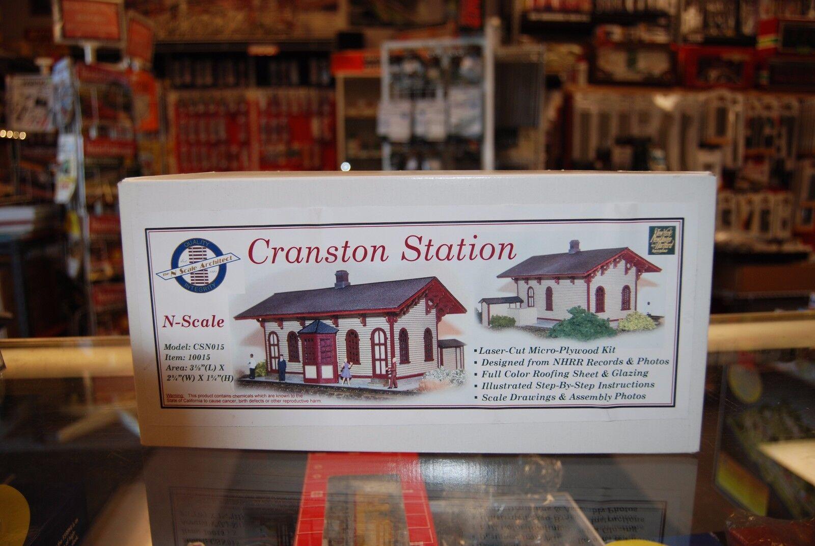 N  N Scale Kit 10015  Cranston estación arquitecto  Nuevo en Caja