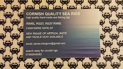 Cornish rigs Big winter cod pulley pennel rigs size 5//0 top selling rigs x10 ...