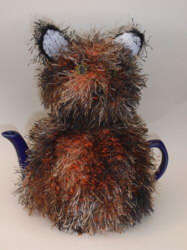 Teacosyfolk Kit-Thé Cat Tea Cosy Knitting Pattern-Knit votre propre!