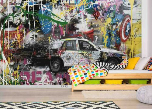 3D Abstract Graffiti Street Wallpaper Wall Murals Removable Wallpaper 393