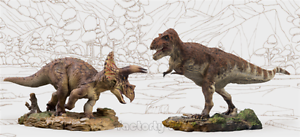 Pnso Triceratops Dolly 1 35 Dinosaurs Tyrannosaurus Rex Wilson Museum Model New