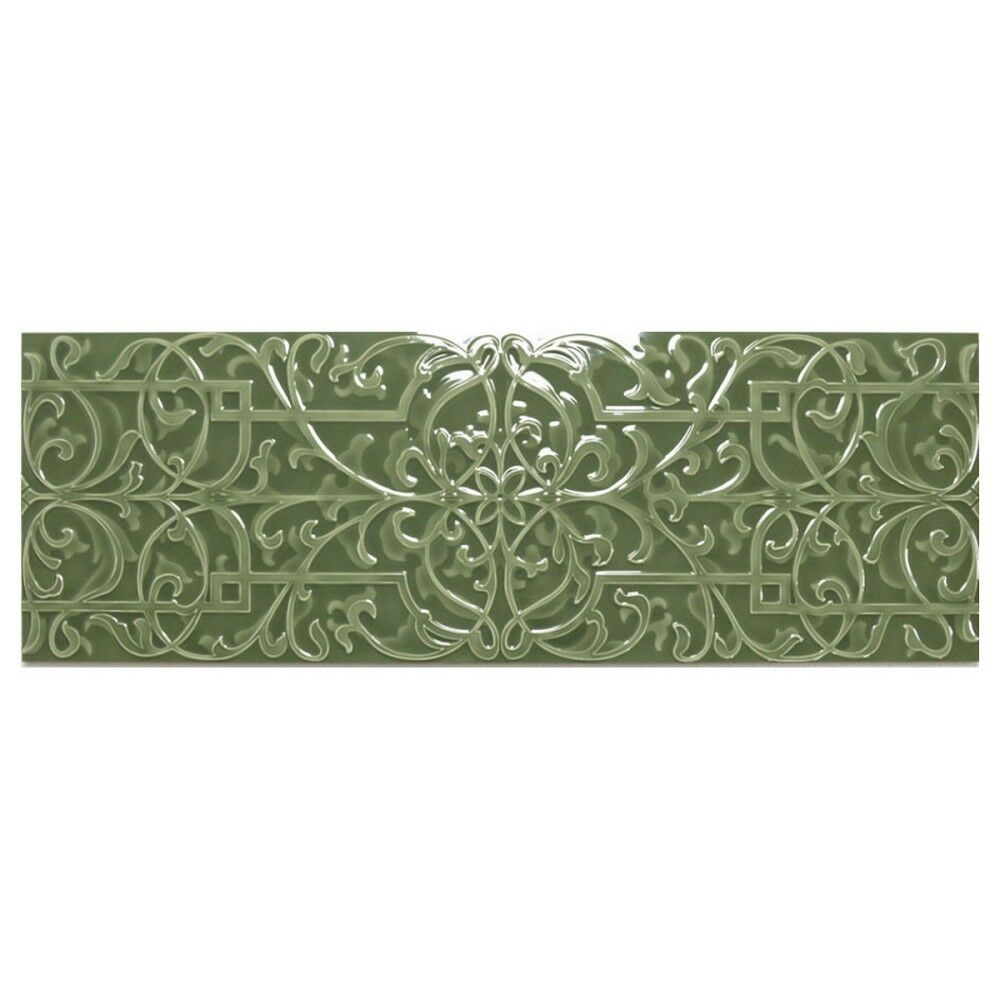 Dekorfliese Wand Villeroy & Boch Mon Coeur 1335 AN51 mint grün glanz 30 x 90