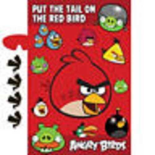 Angry Birds Pin The Tail Party Game Poster Birthday Supplies