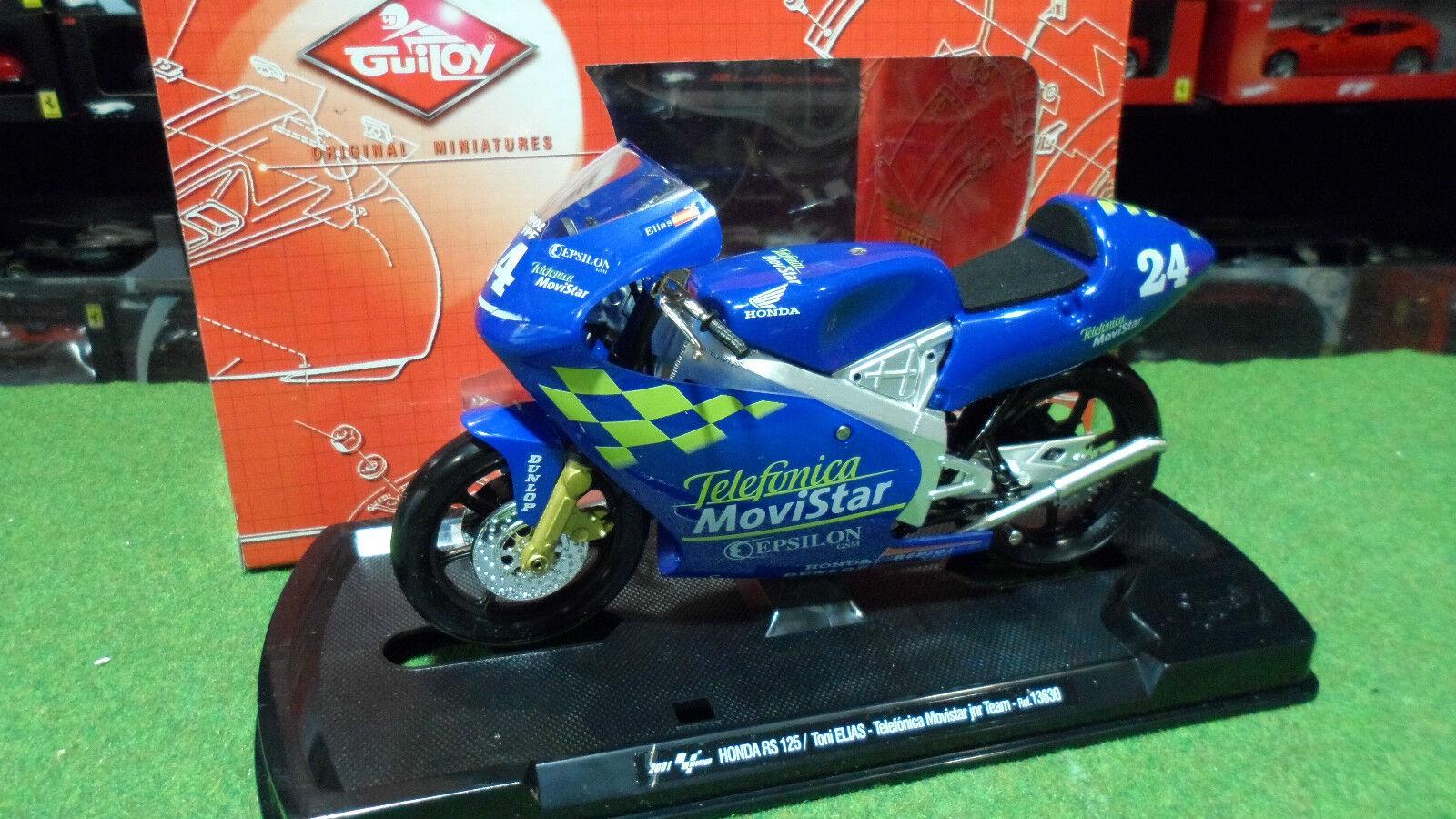 MOTO HONDA RS RS RS 125 Elias Telefonica Movistar blue 1 10 GUILOY 13630 miniature 853b16