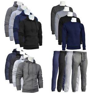 Para-Hombre-Cremallera-Con-Capucha-Sudadera-Jumper-Informales-Gimnasio-Chandal-Superior-Pantalones