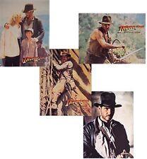 "1984 Indiana Jones-Temple Doom Set of 4 Color Lithos 8""x10"" from UK"