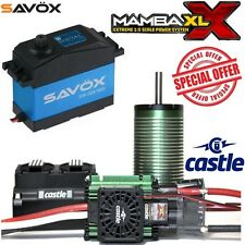 Castle Creations Mamba XL X 34V ESC 20A + 2028 800kV Motor w/ Savox SW0241MG