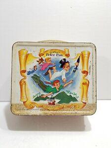 Vintage 1969 Walt Disney Peter Pan Metal Lunch Box Aladdin *No Thermos*