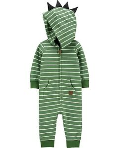 Carter/'s Baby Boys/' Jumpsuit Dinosaur Green Newborn /& 3 Mo NEW